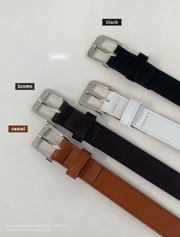 Mont square leather belt