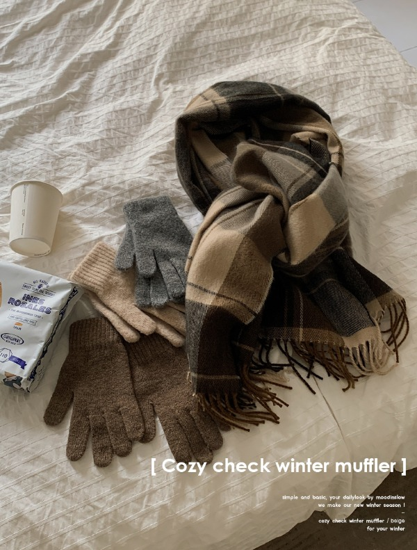 Cozy check winter muffler